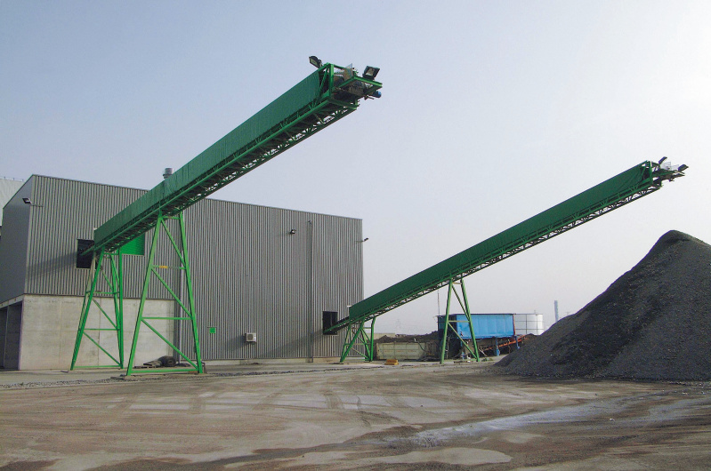 ash treatment, installation, conveyor belt, indaver